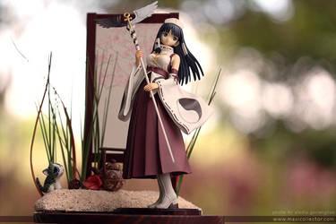 Shining Wind: Ryuna Diorama by BlackMageAlodia