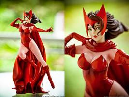 Marvel Bishoujo Scarlet Witch by BlackMageAlodia