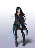Tanake Trang, Jedi -Commission by BlackMageAlodia