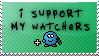 I Support My Watchers stamp by the-emo-detective