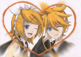 Rin and Len 18th Anniversary by Snuggles7
