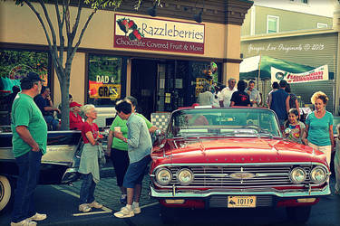 Street Fair, Vintage Car by Moon-Willow