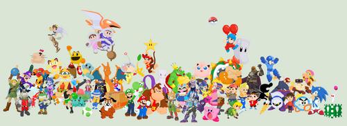 J's Smash Bros Roster by JandMDev