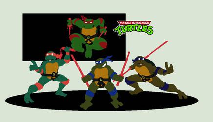 J's  Teenage Mutant Ninja Turtles Figure Colour by JandMDev