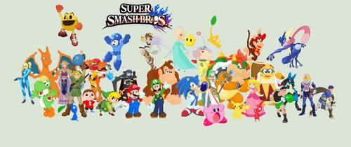 J's Smash roster fan art, so far by JandMDev