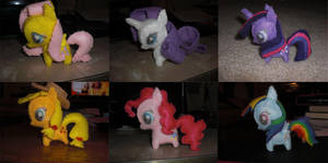 Mini Felt Pony Plushies by Bunnygirl2190