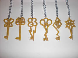 [Limited Edition] Keys of Harmony Paper Pendants by Bunnygirl2190