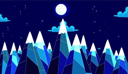 Adventure Time Mountain Range by XxLensxX