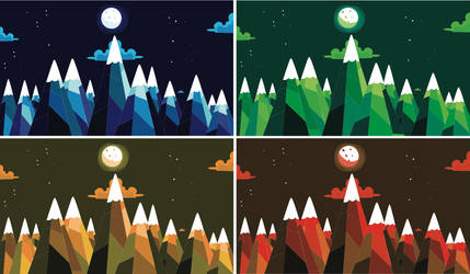 Mountain Range Multi Color by XxLensxX