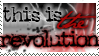 this is the revolution (stamp) by jonathoncomfortreed