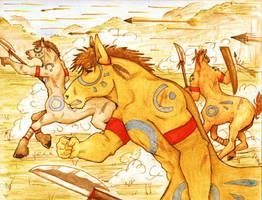 Centaur Battle by SioUte