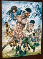 Sio, RJ, and the Centaurs by SioUte