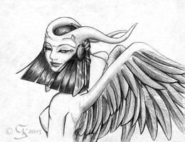 Cleopatra as a Gargoyle by coda-leia