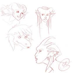 Gargoyles portraits by coda-leia