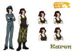 Karen character sheet by coda-leia
