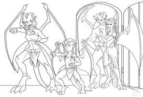 Commission for TaliaLevid - The Gargoyle Way by coda-leia