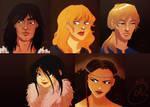 Thorgal characters Panel by coda-leia
