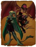 Melusine and Opaline by coda-leia
