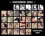 Inktober 2014 Summary by coda-leia