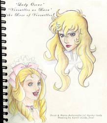 Oscar and Marie Antoinette by coda-leia