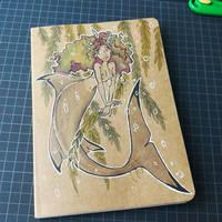 Notebook cover : mermaid by coda-leia