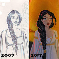 Draw this again : Lessa of Pern 2007 - 2017 by coda-leia
