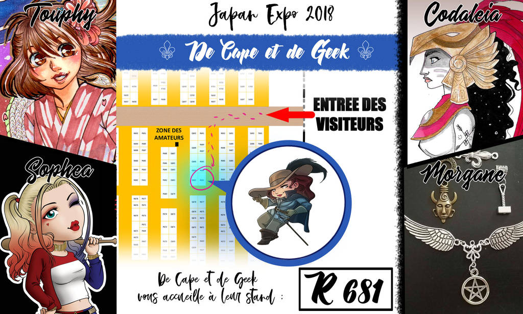 Japan Expo 2018 - De cape et de Geek - Booth R681 by coda-leia