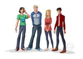Commission : Stuart, Dan, Dawn and James by coda-leia