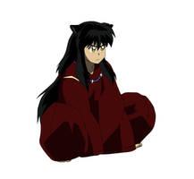 Black Haired Inuyasha by Inumaru101