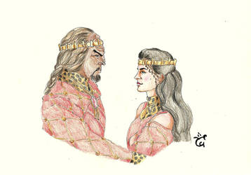 Love in Red - Jadzia Worf [Gift to Ukuleleworld] by AloiInTheSky