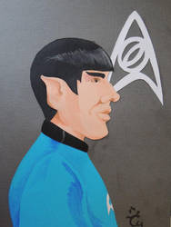 Spock [Papercutting] by AloiInTheSky