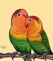 Happy valentines day - lovebird by MalaMi95