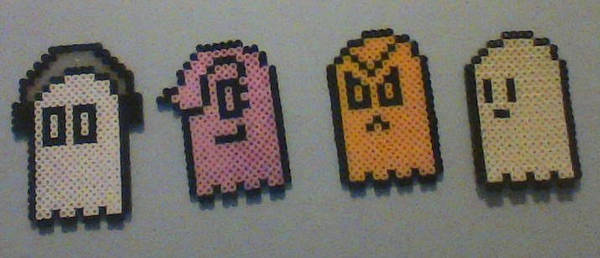 Undertale Perler Bead Ghosts By Perler Rain On Deviantart