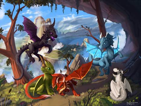 Dragon tale by DiscordTheGE