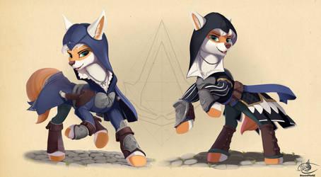 Assassin fox concept by DiscordTheGE