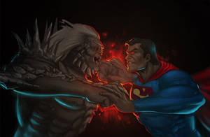 Doomsday vs Superman by Memed