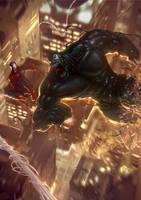 Symbiote bonds Hulk by Memed