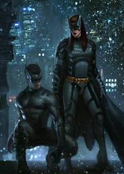 Catman-Batwoman by Memed