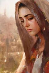 A woman in Jerusalem by Memed