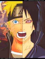 Naruto Uzumaki  Sasuke Uchiha by SanzenGr