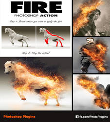 Fire Photoshop Action by GraphixRiver