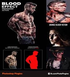 Blood Effect Photoshop Action by GraphixRiver