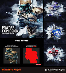 Powder Explosion Photoshop Action by GraphixRiver