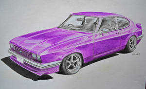 Ford Capri MK III on Work Equip 01 wheels by xMadish