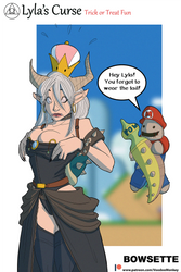Lyla wearing a Bowsette Costume by Voodoo-Monkey88