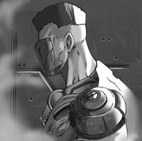Quake Champions Visor by demonic-brute