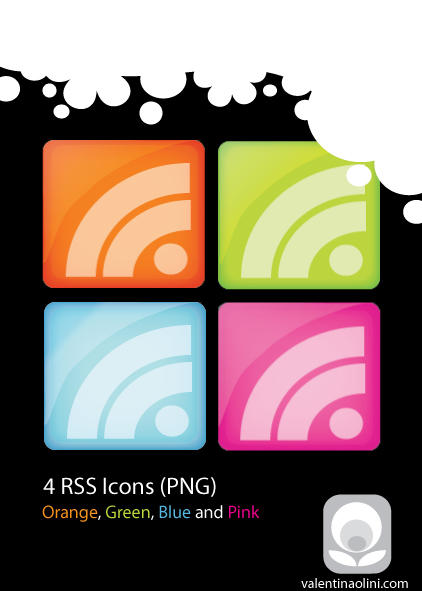 RSS Icons - PNG by Valen23901