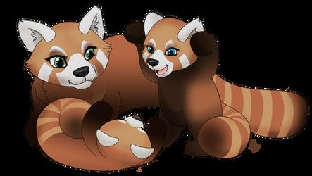 Mother Red Panda by Zaree-Nilerabanwen