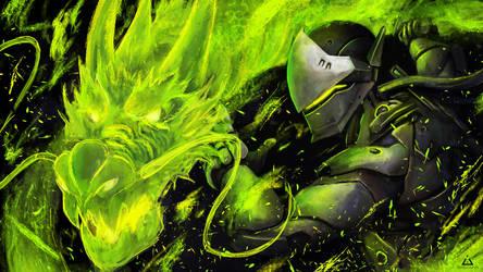 Genji - Overwatch by Asteltainn