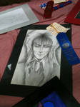 Jareth Drawing FIN by Poisonisnotgoodforu